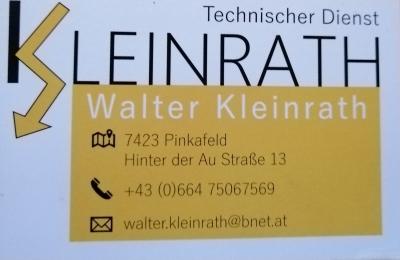 Technischer Dienst Walter Kleinrath